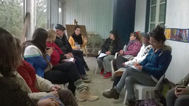 Reunión de organizaciones / Foto: Cecilia Barrera.