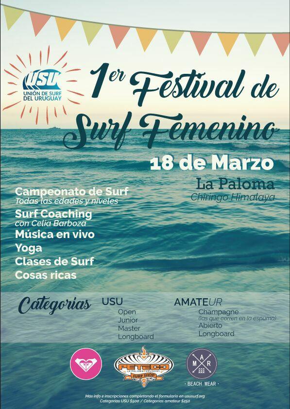 afiche festival surf femenino