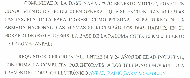 COMUNICADO ANPAL