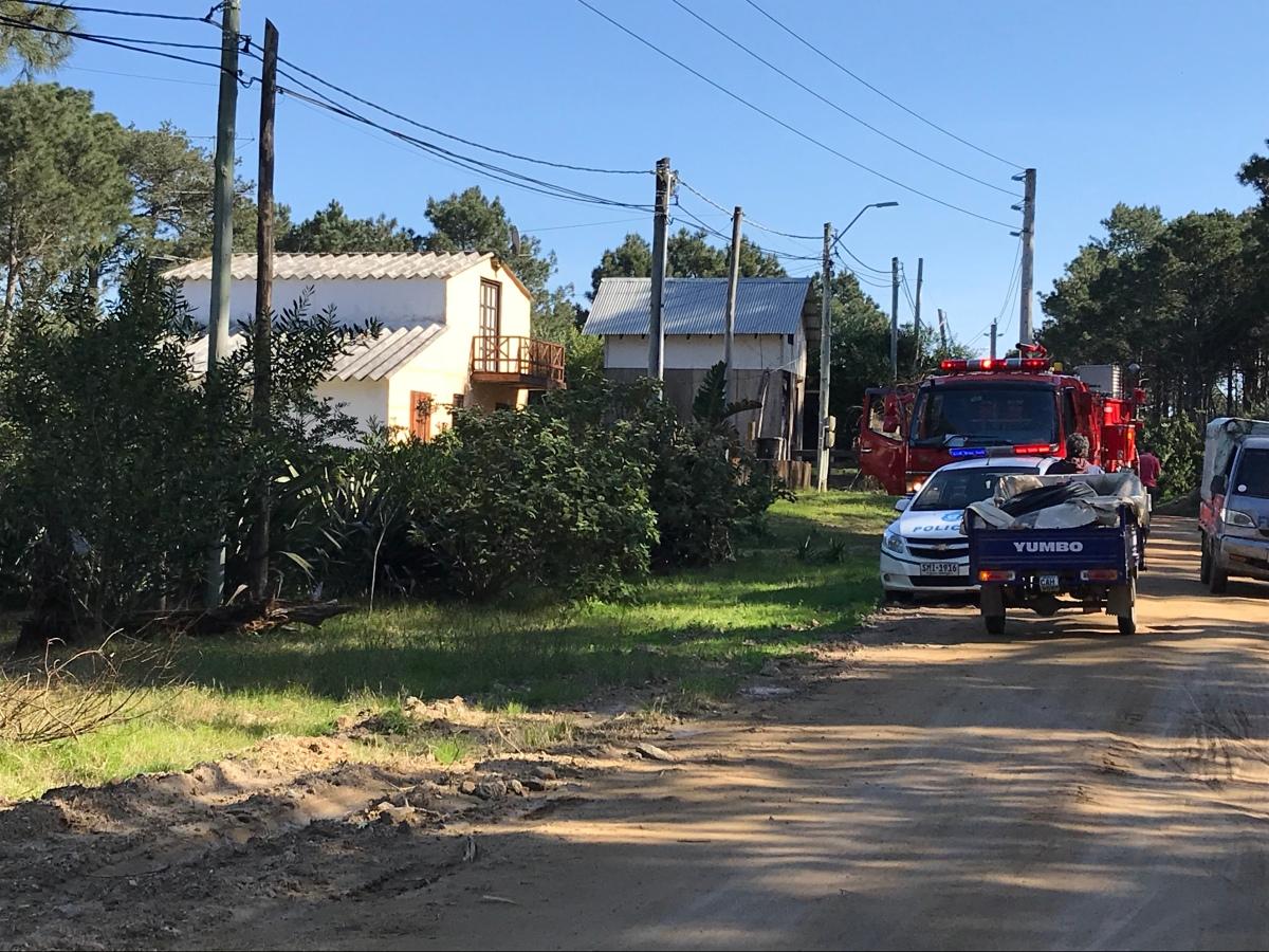 Incendio en Barrio Parque dejó una persona herida