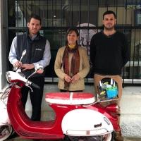 Abitab realizó la entrega de una moto en La Paloma