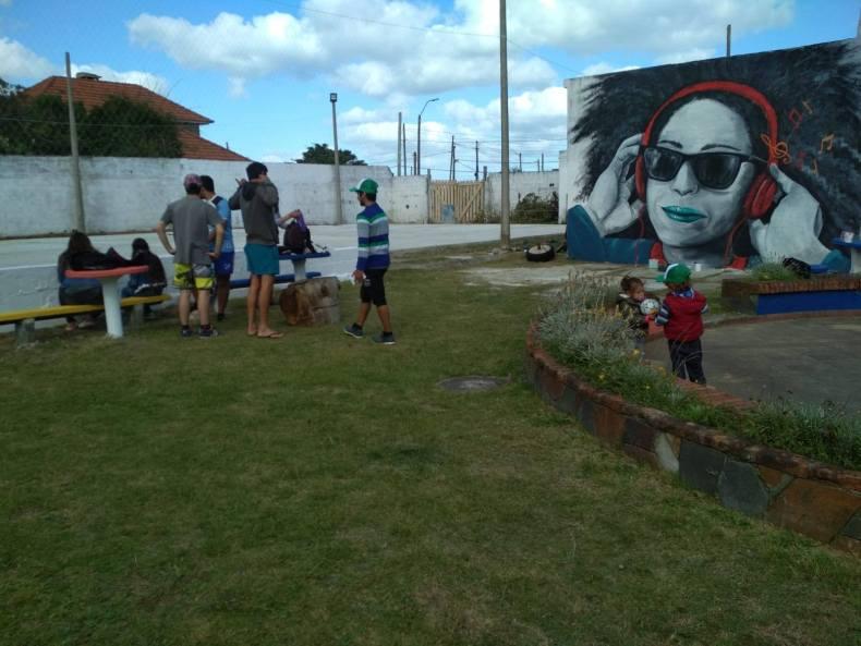 club costa azul con mural
